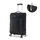DF travel - 紀錄時光可充電可加大20吋防潑水布面行李箱