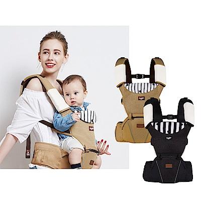 小獅王辛巴simba CLASSY高級訂製腰凳揹巾(黑/咖)
