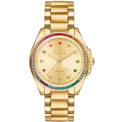 COACH 炫彩耀眼晶鑽時尚腕錶14502507