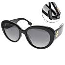 BURBERRY偏光太陽眼鏡 歐美時尚貓眼款 /黑-漸層藍 #B4298F 3001T3