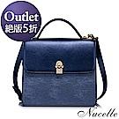 NUCELLE 珠光蕾莉名媛手提包  璀璨藍