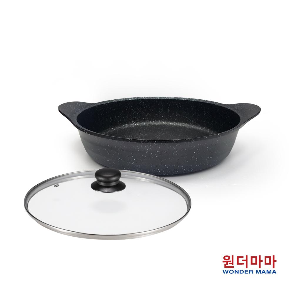 韓國WM銀河黑鈦晶三合一料理深煎鍋32cm(附蓋)