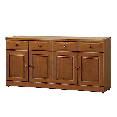 綠活居 薛曼時尚5.4尺實木餐櫃/收納櫃-163.4x43x81cm-免組