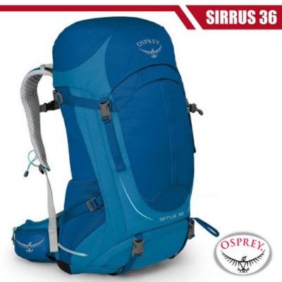 OSPREY 女新款 SIRRUS 36 輕量透氣健行登山背包S/M_高峰藍 R
