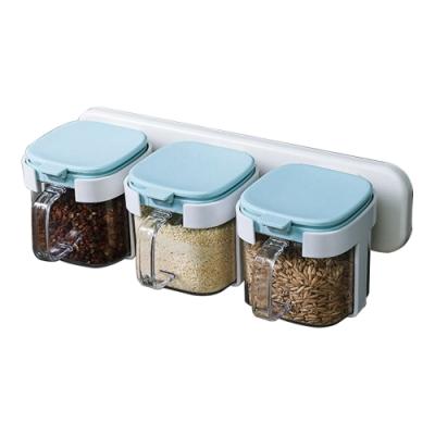 壁掛式 調味料收納罐 黏貼式 無痕 三個一組