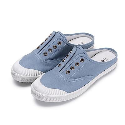 BuyGlasses 貝殼頭踩腳休閒鞋-藍