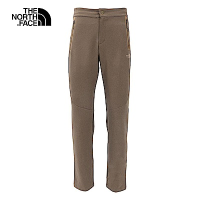 The North Face北面男款綠色防潑水戶外遠足長褲|3L8ZZBK