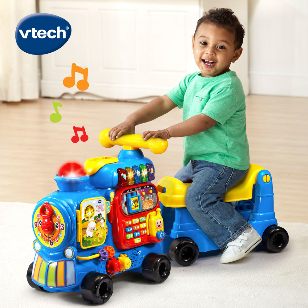 【Vtech】4合1智慧積木學習車-藍