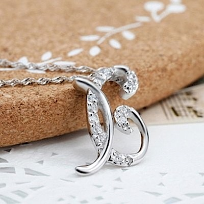 米蘭精品 925純銀項鍊-時尚簡約X英文字母