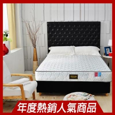 雙人加大6尺- 正反可睡-3M防潑水抗菌蜂巢獨立筒床墊-Ally愛麗