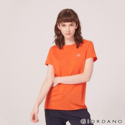 GIORDANO 女裝G-MOTION反光LOGO運動T恤-38 錦鯉橙