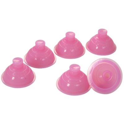 居家矽膠拔罐器-粉紅(6入單盒裝)