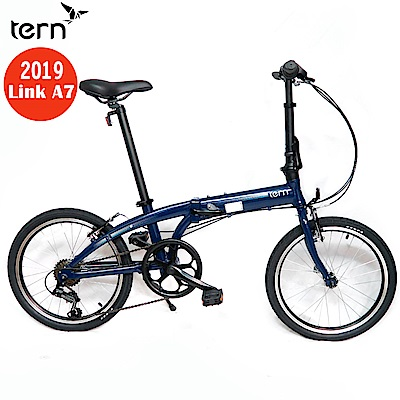 Tern 2019Link A7鋁合金20吋7速折疊單車-深藍底灰標
