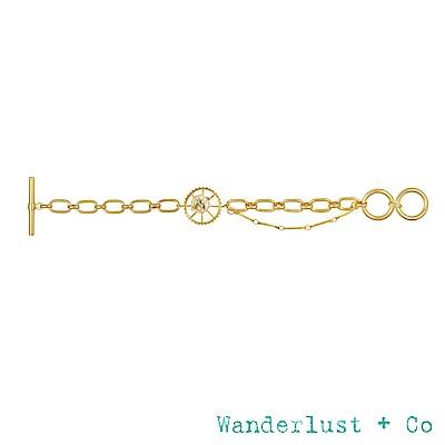 Wanderlust+Co REVERIE系列 陽光嗡嗡鍍18K金手鍊