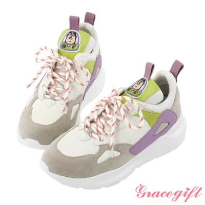 Disney collection by gracegift玩具總動潮流老爹鞋 淺灰