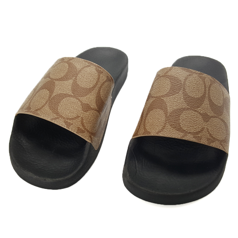 COACH 經典LOGO 時尚PVC防水拖鞋