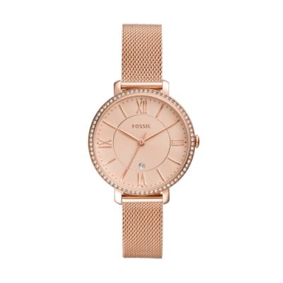 FOSSIL優雅玫瑰金米蘭帶腕錶ES4628