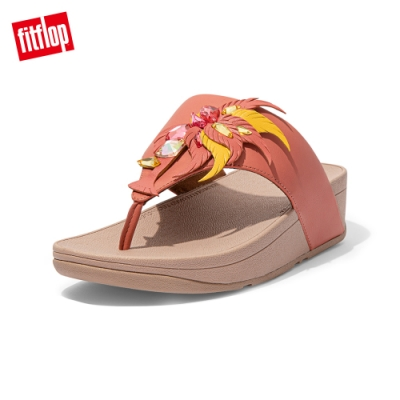 FitFlop OLIVE CRYSTAL FEATHER TOE POST SANDALS 羽毛裝飾夾腳涼鞋 女(柔和粉)