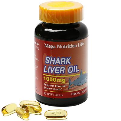 美國Mega 深海鮫魚肝油軟膠囊90顆