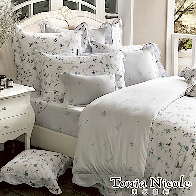 (活動)Tonia Nicole東妮寢飾 繁花童話環保印染高紗支長纖細棉被套床包組(加大)