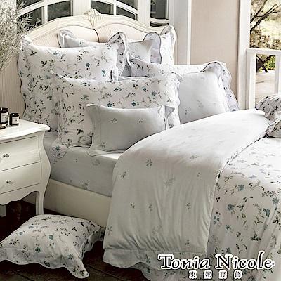 (活動)Tonia Nicole東妮寢飾 繁花童話環保印染高紗支長纖細棉被套床包組(特大)