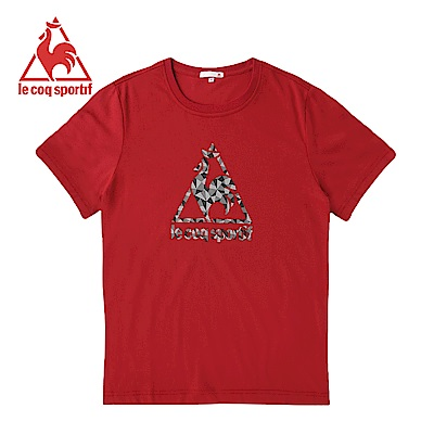 le coq sportif法國公雞牌短袖T恤 男女-暗紅