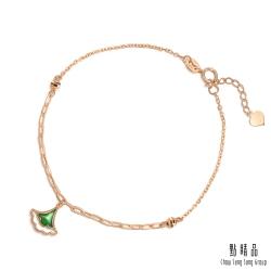 18K 優雅銀杏葉 琺瑯手鍊
