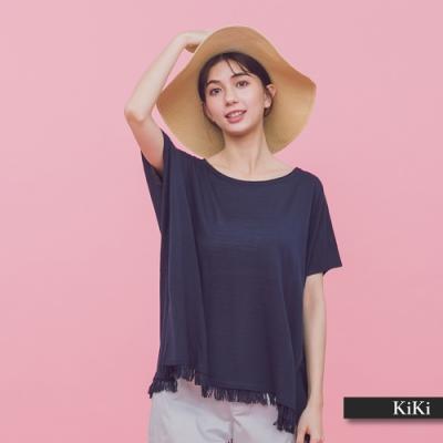 【KiKi】外出休閒流蘇-針織衫(三色)
