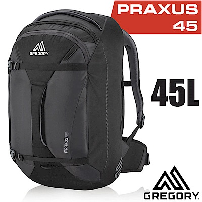 美國 GREGORY 新款 Praxus 45 多功能可背可提旅行背包_像素黑
