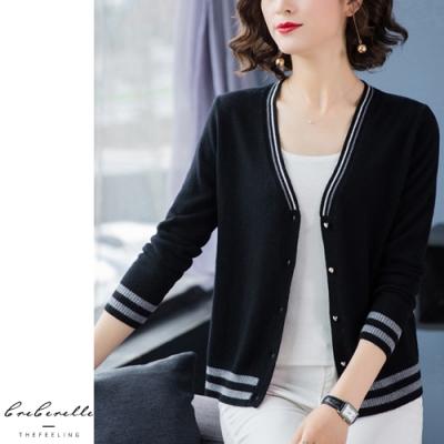 2F韓衣-韓系優雅條紋邊設計款造型外套-3色(F)