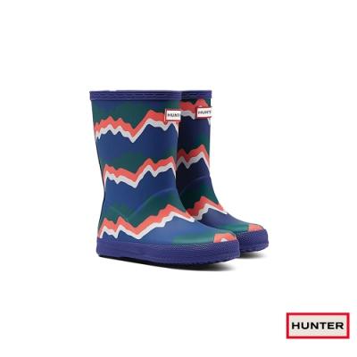HUNTER - 童鞋-小童印花霧面短靴 - 彩色