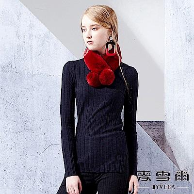 【麥雪爾】美麗諾羊毛質感羅紋素色上衣