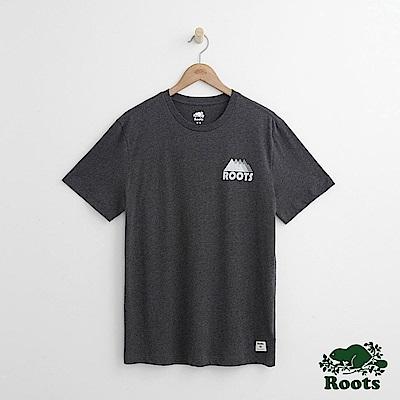 Roots 男裝-   左胸山形短袖T恤-炭灰