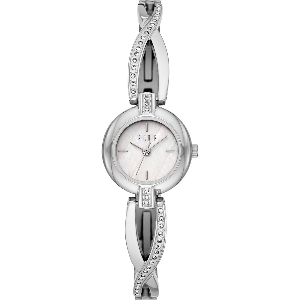 ELLE Monge 系列 美麗閃光女錶-銀x23mm ELL21018