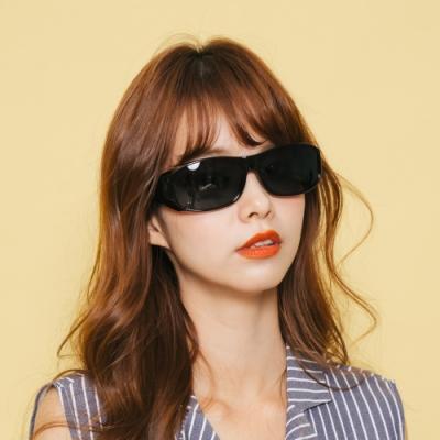 ALEGANT低調沙褐豹紋全罩式偏光墨鏡/外掛式UV400太陽眼鏡(包覆式/車用太陽眼鏡)