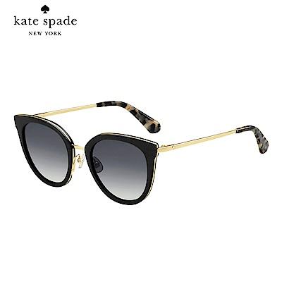 Kate Spade JAZZLYN/S-時尚貓眼太陽眼鏡 黑色
