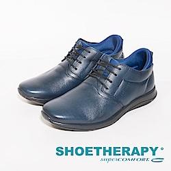 SAPATOTERAPIA 巴西牛皮繫帶休閒鞋 男鞋-藍(另有黑)