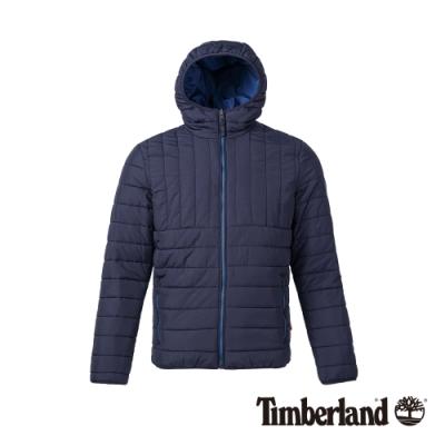 Timberland 男款寶石藍修身保暖棉連帽夾克|A21CQ