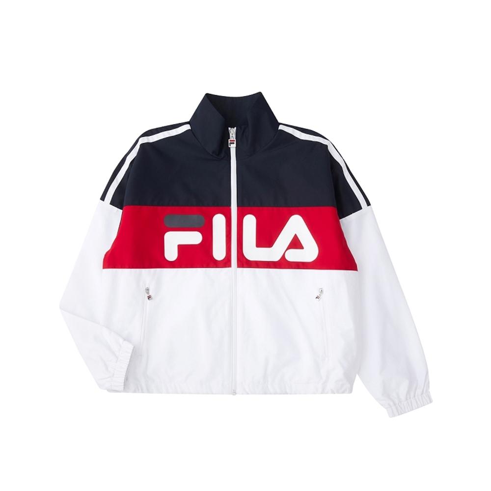 FILA 女平織外套-白色 5JKU-5478-WT