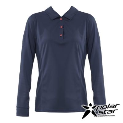 【PolarStar】女 吸排抗UV POLO衫『深藍』P20254