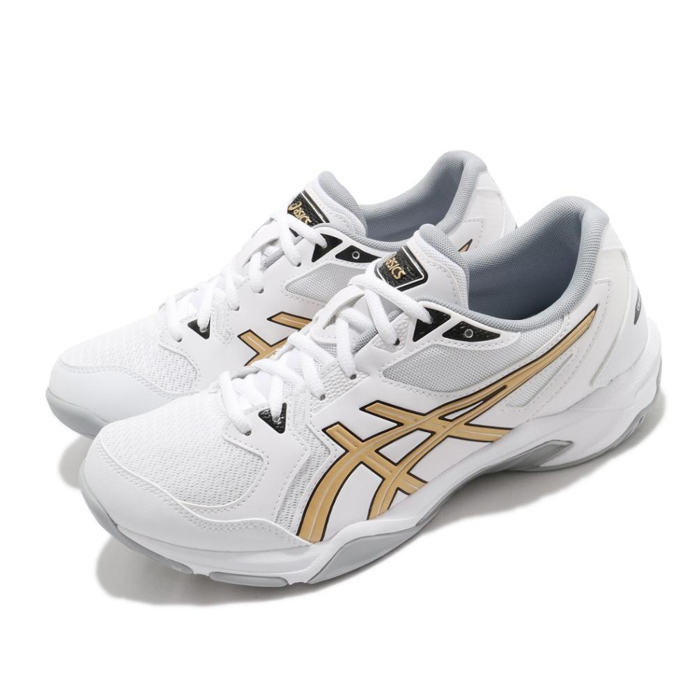 Asics 排球鞋 Gel-Rocket 10 運動休閒 男鞋 亞瑟士 緩衝 平穩 膠底 中階鞋款 白 金 1071A054103