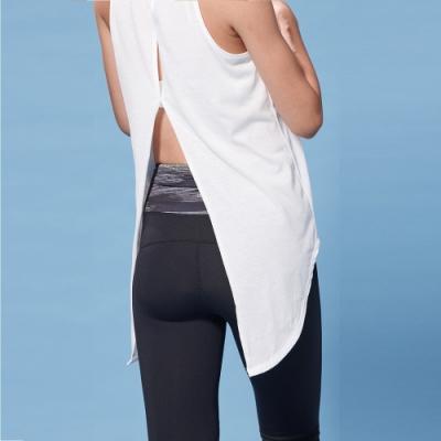 LEAP Swallow 美背修飾燕尾開衩造型背心-黑/白兩色