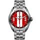MINI Swiss Watches 石英錶 45mm 紅底白條錶面 不銹鋼錶帶 product thumbnail 1