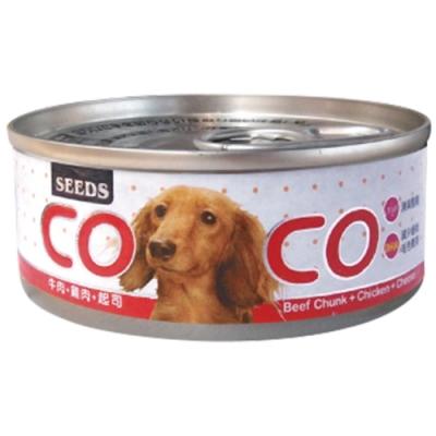 Seeds 聖萊西-COCO愛犬機能營養餐罐-牛肉+雞肉+起司(80gX24罐)