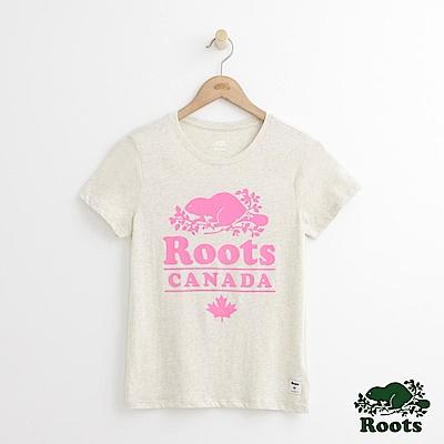Roots -女裝- 加拿大修身短T - 米白