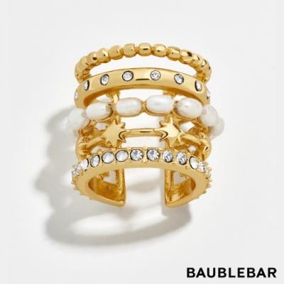 美國 BaubleBar 輕奢多層次珍珠耳骨夾 Duomo Pearl Ear Cuff