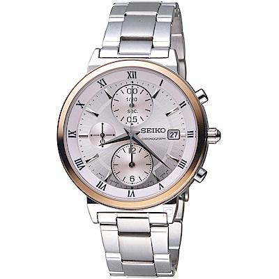 SEIKO精工CS系列時尚計時腕錶(SNDV30P1)-37mm