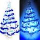 摩達客 15尺特級白色松針葉聖誕樹(藍銀色系)+100燈LED燈9串(附控制器跳機) product thumbnail 1