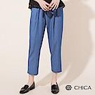 CHICA 鄉村記憶綁帶扣環軟料老爺褲(3色)