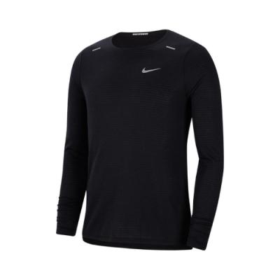 Nike 上衣 Rise 365 Running Top 男款 健身 重訓 跑步 快乾排汗 透氣舒適 黑 銀 CJ5425010